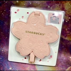 Starbucks Sakura Luggage Tag Bag Cherry